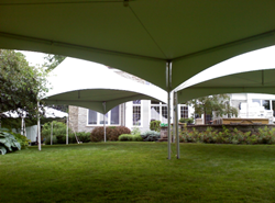 20 by 20 adjoining frame tents