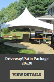 20' by 20' Tent Rental Package