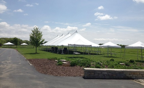 Party tent rental in Menasha, Wisconsin