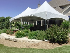 Brookfield backyard tent rental
