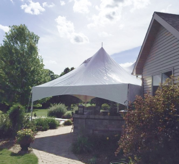 ... Rental For Backyard Party. High Peak Frame Tent