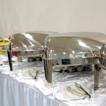 Chafing dishes and other food service equipment rentals.