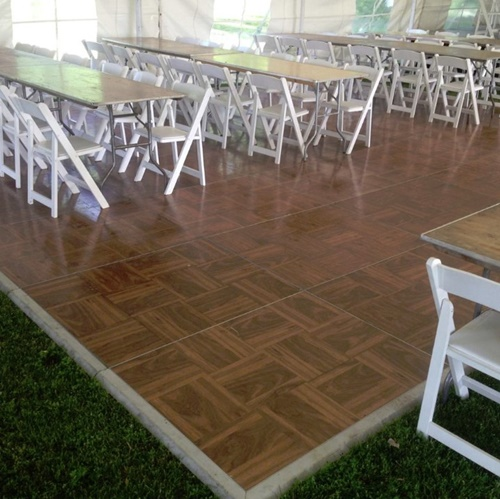 Dance Floor Does Double Duty As Dining Area for De Pere Wedding Reception : wedding tent flooring - memphite.com