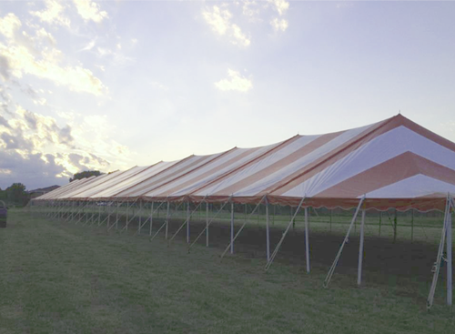Striped party tent rental McFarland
