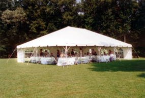 Frame tent rental for wedding reception