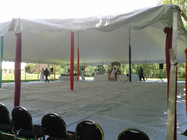 Wedding tent rental for Hindu ceremony in Pewaukee, Waulksconsin