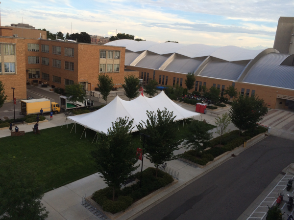 UW Madison pole tent rental