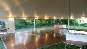Wedding Reception Party Tent And Dance Floor Rental