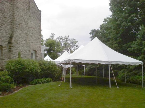 High Peak Frame Tents for Fox Point Wedding