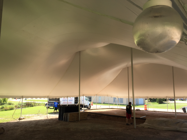 Neenah pole tent rental