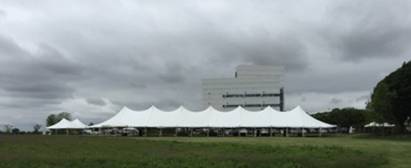 Pole tent rental at Wisconsin event braving threatening weather
