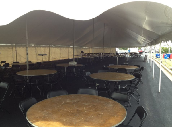 Pole tent rental in Fitchburg, Wisconsin