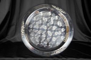 15-inch Round Tray, Stainless