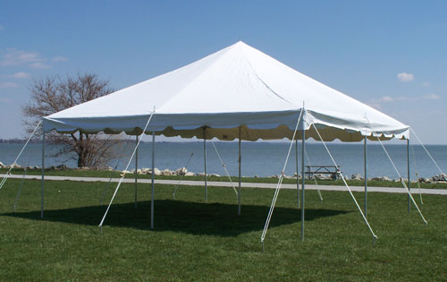 20x20 All White DIY canopy tent for rent Milwaukee