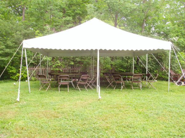 20 by 20 foot White Tent