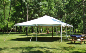 20 by 30 foot White Tent