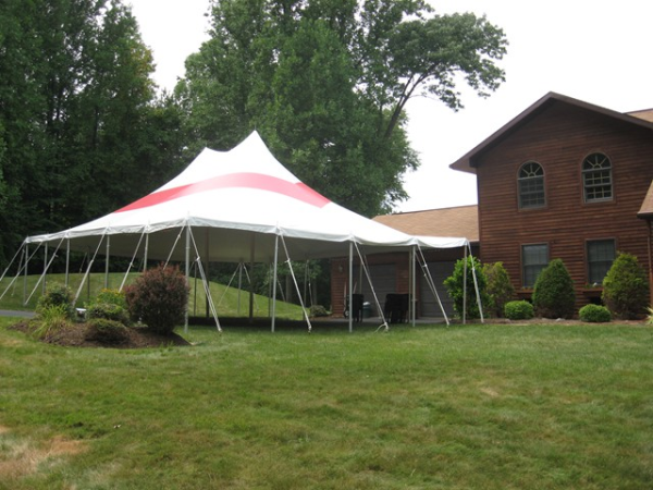 30x40 Red Striped Party Tent