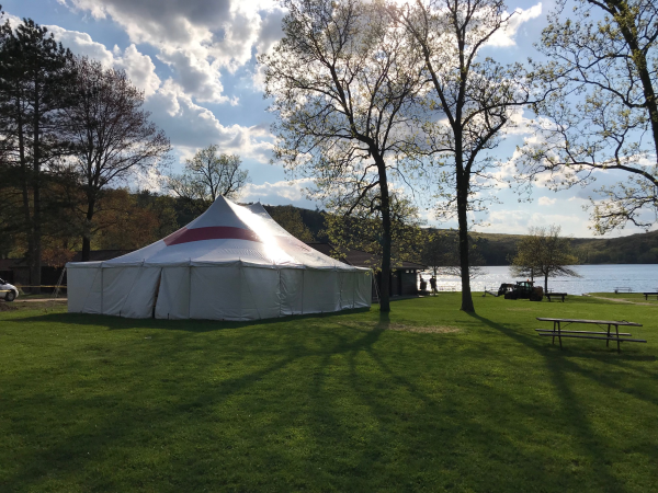 30x40 Red and White Tent