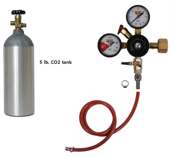 Bistro Bar CO2 Kit for portable tapper rentals in Milwaukee & Madison Wisconsin