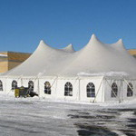 Winter party tent rental in Milwaukee