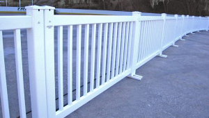 "Signature Fence, White 6ft x 42"" Height"