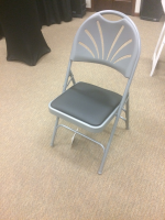 Grey Padded Meeting Chair