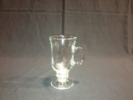 Coffee mug, footed-clear 8-1/2 oz. Irish Coffee