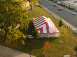 Striped party tent rental Madison