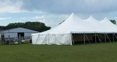 Tent Sides, per 20ft section (Solid White)
