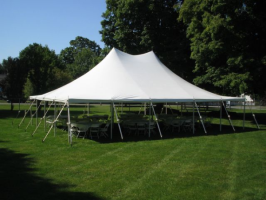 All white high peak tent rental Mequon