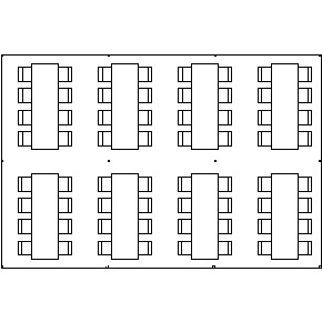 rectangle table seating chart diagram