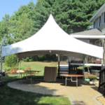 20 by 20 free-standing tent rental