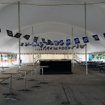 Brookfield church festival event tent interior