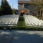 Chair Rentals for Backyard Wedding Ceremony in Wauwatosa