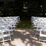 Chair setup wedding reception