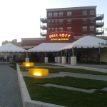Rent party tent for event in downtown Milwaukee.