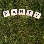 Party on lawn