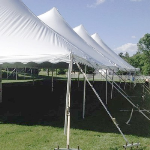 Pole Tent Anchoring