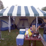 Striped Party Tent Rental Green Bay