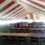 Striped Party Tent Rental for Madison Festival