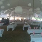 Neenah wedding tent rental