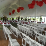 White wedding tent rentals Fox Cities