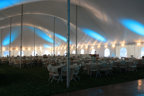 Inside 60x150 Wedding Tent