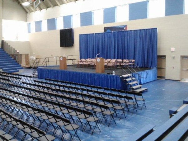 Madison Graduation Ceremony Stage And Chair Rental