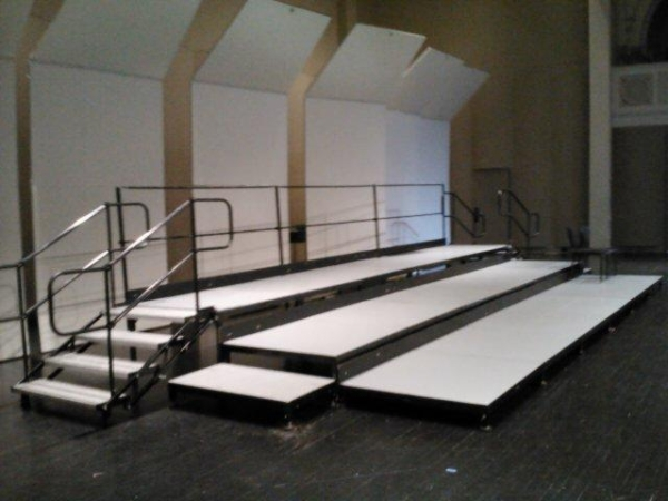 Tiered stage rental in Wisconsin
