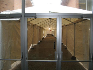 Winter tent rentals for large event in Wisconsin