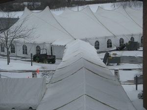 Large winter event tent rental in Wisconsin