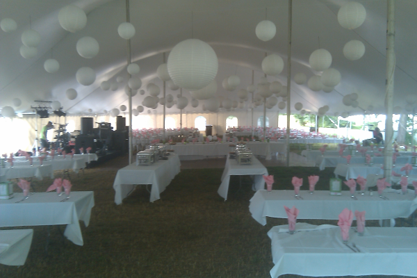 Wedding tent rental in Neenah, Wisconsin