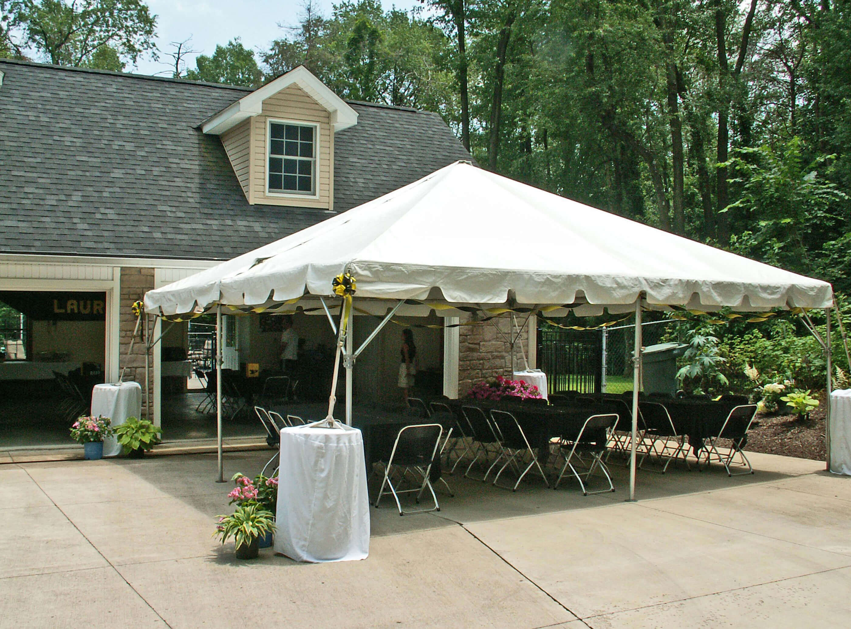 Free-standing tent rentals for disaster relief causes