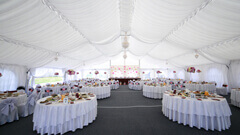 Large heated tent rentals